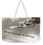 Real Estate Listing And Hosue Keys Weekender Tote Bag