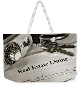 Real Estate Listing And Lock Box Weekender Tote Bag