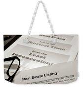 Real Estate Listing Presentation  Weekender Tote Bag