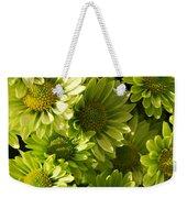Real Green Flowers Weekender Tote Bag