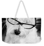 Really Portait Of A Westie Wearing Glasses Weekender Tote Bag