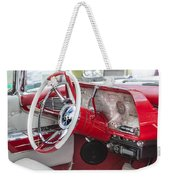 Really Red 1959 Lincoln Interior Weekender Tote Bag