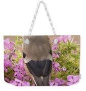 Rear View Of Female Bullfinch Standing Weekender Tote Bag