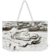 Reclining Nude Study Resting At The Beach Weekender Tote Bag