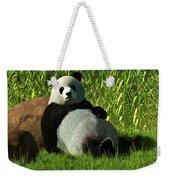 Reclining Panda Weekender Tote Bag