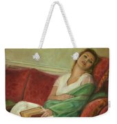 Reclining With Book Weekender Tote Bag