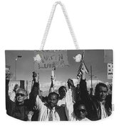 Recognize Martin Luther King Day Rally Tucson Arizona 1991 Black And White Weekender Tote Bag