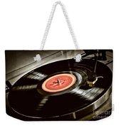 Record On Turntable Weekender Tote Bag
