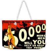 Recruiting Poster - Ww1 - Australian Promise Weekender Tote Bag