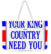 Recruiting Poster - Britain - King And Country Weekender Tote Bag