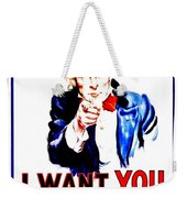 Recruiting Poster - Ww1 - I Want You Weekender Tote Bag