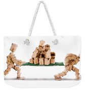 Recycling Boxes By Box Characters And Stretcher Weekender Tote Bag