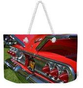 Red 1960 Chevy Weekender Tote Bag