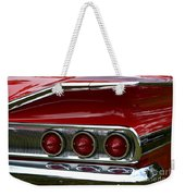 Red 1960 Chevy Tail Light Weekender Tote Bag
