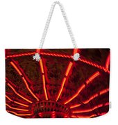 Red Abstract Carnival Lights Weekender Tote Bag