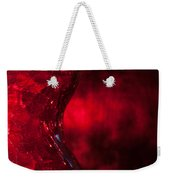 Red Abstract Weekender Tote Bag