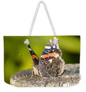 Red Admiral Butterfly Weekender Tote Bag