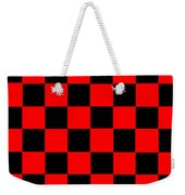 Red And Black Checkered Flag Weekender Tote Bag