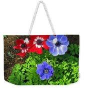 Red And Blue Anemones Weekender Tote Bag