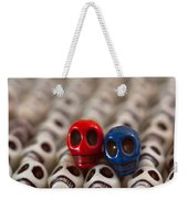 Red And Blue Weekender Tote Bag