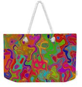 Red And Gold Abstract Weekender Tote Bag