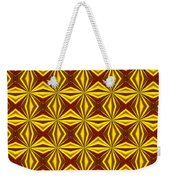 Red And Gold Christmas Abstract Weekender Tote Bag