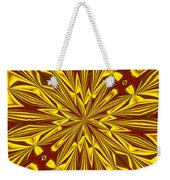 Red And Gold Christmas Kaleidescope Weekender Tote Bag