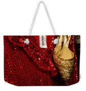 Red And Gold Holiday Weekender Tote Bag