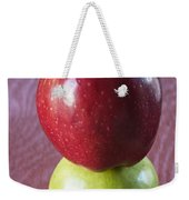 Red And Green Apples Weekender Tote Bag