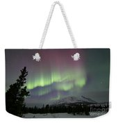 Red And Green Aurora Borealis Weekender Tote Bag