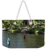 Red And Green Buoys Weekender Tote Bag