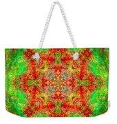 Red And Green Sun Mandala Weekender Tote Bag