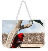 Red And Green Parrots Weekender Tote Bag