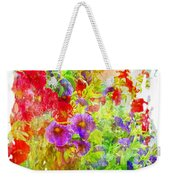 Red And Purple Calibrachoa - Digital Paint II Weekender Tote Bag