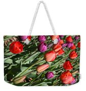 Red And Purple Tulips Weekender Tote Bag