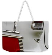 Red And White 1955 Chevy Weekender Tote Bag