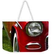 Red And White 50's Chevy Weekender Tote Bag