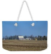 Red And White Barns Weekender Tote Bag