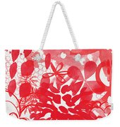 Red And White Bouquet- Abstract Floral Painting Weekender Tote Bag