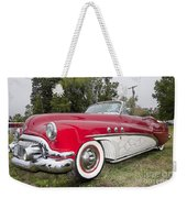 Red And White Classic Weekender Tote Bag