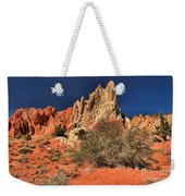 Red And White Desert Towers Weekender Tote Bag