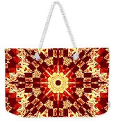 Red And White Patchwork Art Weekender Tote Bag