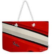 Red And White Ranchero Weekender Tote Bag