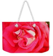 Red And White Rose Weekender Tote Bag
