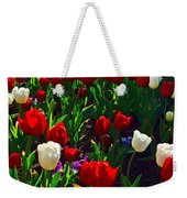 Red And White Tulip Art Weekender Tote Bag