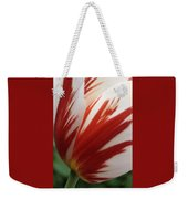 Red And White Tulip  Weekender Tote Bag