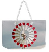 Red And White Windmill Weekender Tote Bag