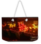 Red And Yellow Apples In Baskets Weekender Tote Bag