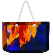 Red And Yellow Bloom In A Blue Paradise Weekender Tote Bag