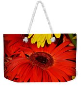 Red And Yellow Glory - The Flowers Of Summer - Gerbera Daisies Weekender Tote Bag